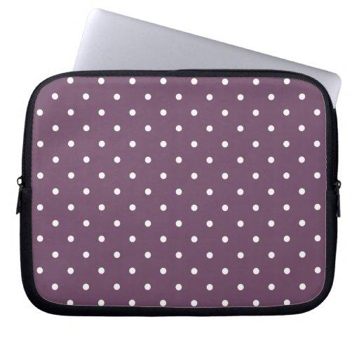Fifties Style Purple Polka Dot Laptop/iPad 2 Case Computer Sleeves