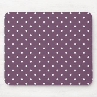 Fifties Style Purple Polka Dot Mousepad