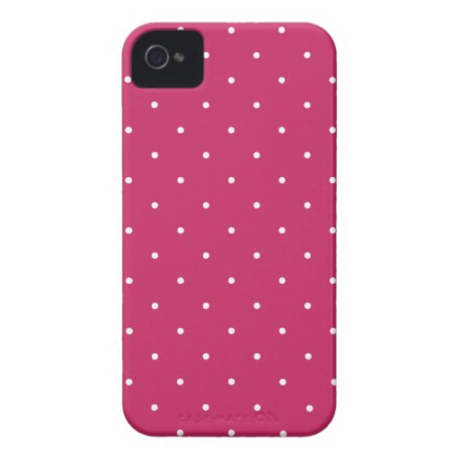 Fifties Style Raspberry Red Polka Dot Case-Mate iPhone 4 Cases