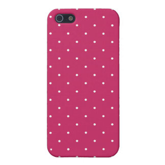 Fifties Style Raspberry Red Polka Dot Case For iPhone SE/5/5s