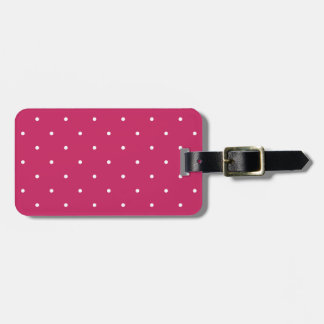 Fifties Style Raspberry Red Polka Dot Tag For Luggage