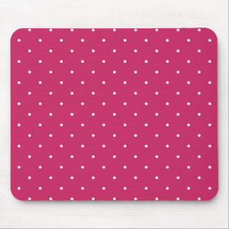 Fifties Style Raspberry Red Polka Dot Mouse Pad