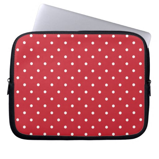 Fifties Style Red Polka Dot Laptop/iPad 2 Case Laptop Computer Sleeves