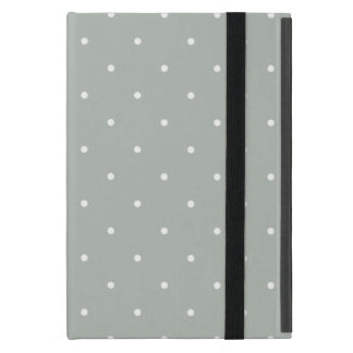 Fifties Style Silver Gray Polka Dot iPad Mini Case