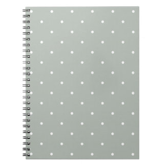 Fifties Style Silver Gray Polka Dot Notepad Notebook