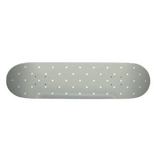 Fifties Style Silver Gray Polka Dot Skateboard