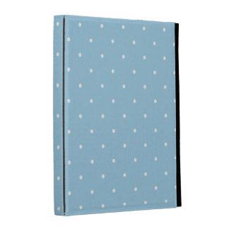 Fifties Style Sky Blue Polka Dot iPad Folio Cover