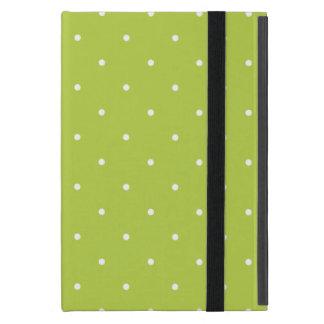 Fifties Style Tender Shoots Green Polka Dot iPad Mini Covers