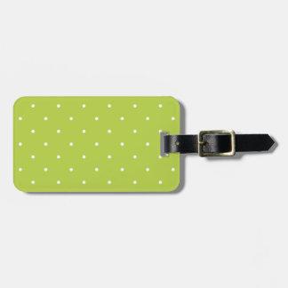 Fifties Style Tender Shoots Green Polka Dot Travel Bag Tags