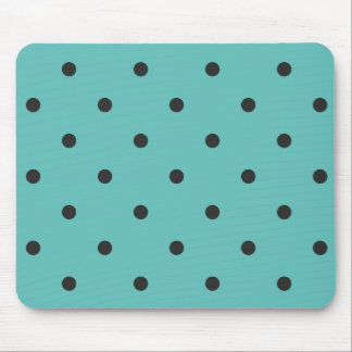 Fifties Style Turquoise Polka Dot Mouse Pad