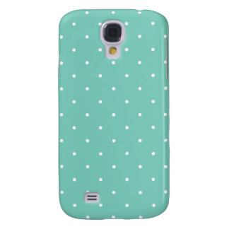 Fifties Style Turquoise Polka Dot Samsung Galaxy S4 Case
