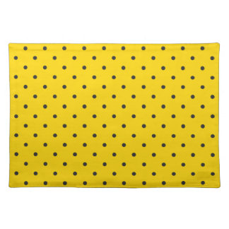 Fifties Style Yellow Polka Dot Cloth Placemat