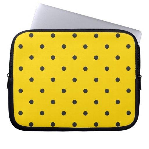 Fifties Style Yellow Polka Dot Computer Sleeve