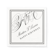 Fiftieth Birthday Party Cocktail Napkins