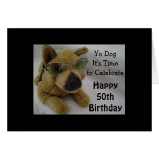 Fiftieth Birthday Wishes Greeting Card