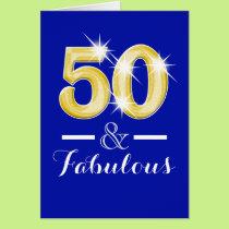 Fiftieth fifty 50th birthday party card