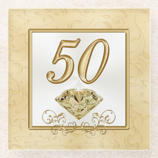 50th Wedding Anniversary Gift Etiquette: Fiftieth Wedding Anniversary Gift Or 50th Birthday Glass