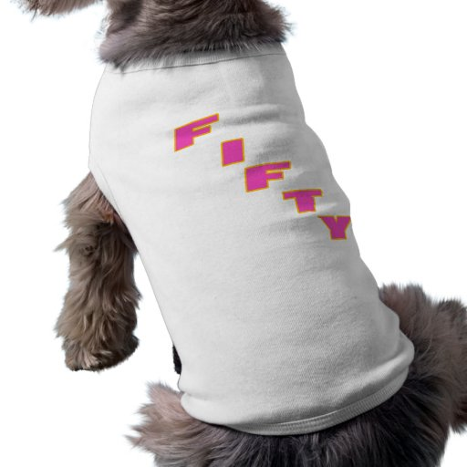 Fifty 50th Birthday Gifts Doggie Shirt