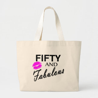 Fifty And Fabulous Canvas Bags