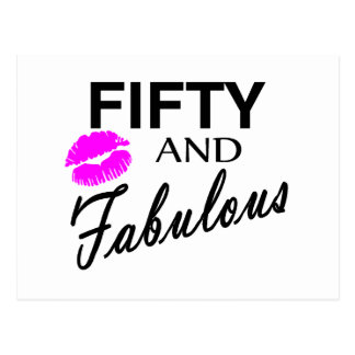 Fifty And Fabulous Postcard