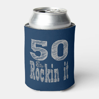 Fifty and Rockin It Fiftieth Birthday Can Cooler