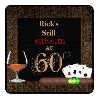 Fifty Birthday Cigars,Poker and BRANDY INVITATIONS