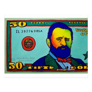 Fifty Bucks by Piliero Postcard