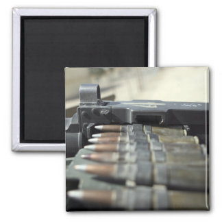 Fifty-caliber machine gun rounds 2 inch square magnet