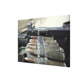 Fifty-caliber machine gun rounds stretched canvas print