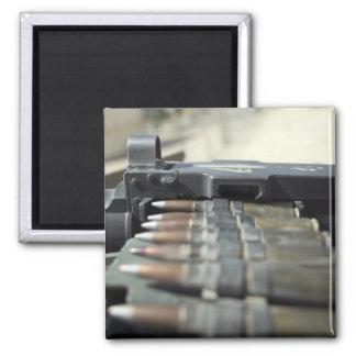 Fifty-caliber machine gun rounds magnet