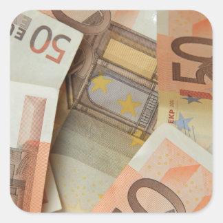 Fifty Euro Money Art Square Sticker