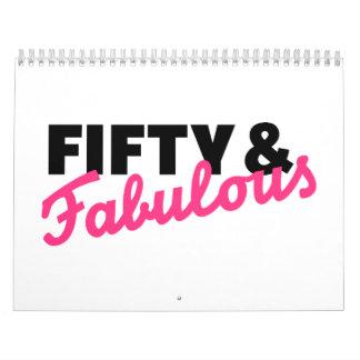 Fifty & fabulous birthday calendar