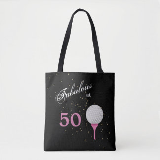 Fifty Fabulous Golf Tote Bag