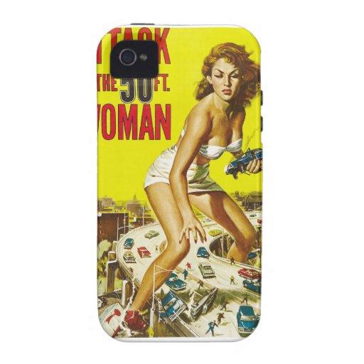 Fifty Foot Alien Women Case-Mate iPhone 4 Case