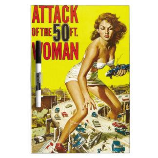 Fifty Foot Alien Women Dry Erase Board