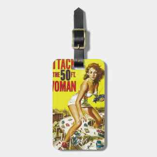 Fifty Foot Alien Women Luggage Tag