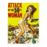 Fifty Foot Alien Women Post Card