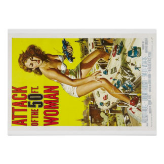 Fifty foot woman poster