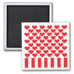 Fifty Hearts and Stripes Fridge Magnets