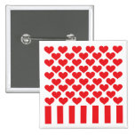 Fifty Hearts and Stripes Pin