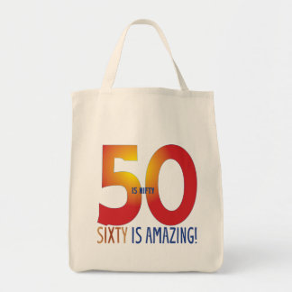 Fifty is nifty tote bag