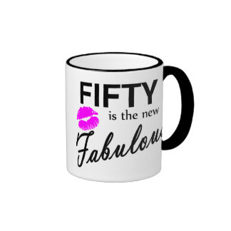 Fifty Is The New Fabulous Ringer Mug