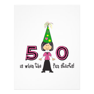 FIFTY IS WHEN THE FUN STARTS LETTERHEAD