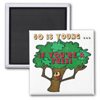 Fifty Is Young 50th Birthday Gifts Fridge Magnet