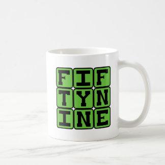 Fifty Nine, Number 59 Classic White Coffee Mug