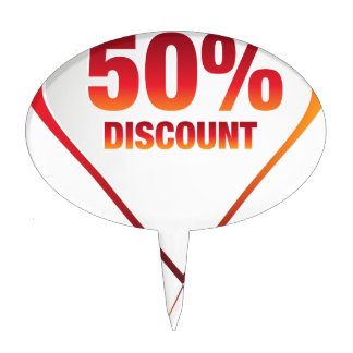 Fifty Percent Discount Arrow Icon Cake Topper