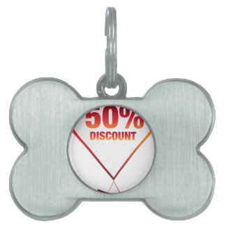 Fifty Percent Discount Arrow Icon Pet Name Tag