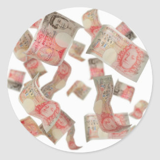 fifty pound notes classic round sticker