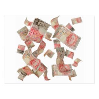 fifty pound notes postcard