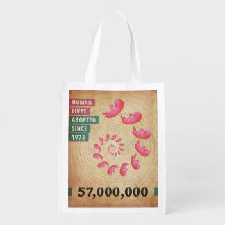 Fifty Seven Million Abortions Grocery Bags